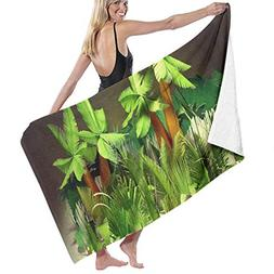 Okjtnjw Hotel & Spa Bath Towel Large Palm Leaf Wallpaper Bea