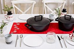 Hotrun 2-in-1 Decorative Table Runner and Protective Trivet