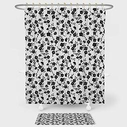 iPrint House Decor Shower Curtain And Floor Mat Combination