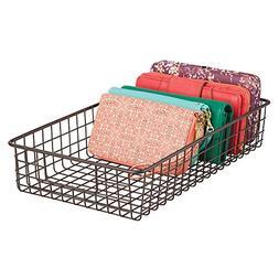 mDesign Household Wire Drawer Organizer Tray, Storage Organi