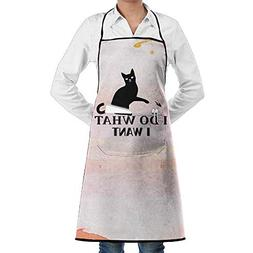 JUNIY I Do What I Want Cat Durable Kitchen Cooking Garden Ap
