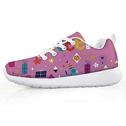 iPrint 16th Birthday Decorations Sport Shoes Cheerful Birds