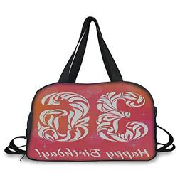 iPrint Travel handbag,36th Birthday Decorations,Ombre Vivid