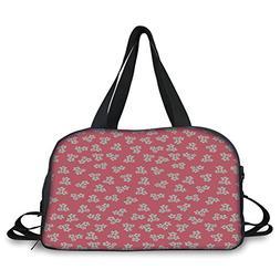 iPrint Travel handbag,Country Home,Cute Little Daisies Bouqu