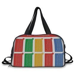 iPrint Travel handbag,Educational,Colorful Classroom Multipl