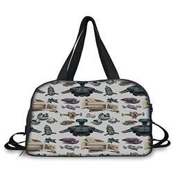 iPrint Travel handbag,Kids,Spaceship Aircraft Rocket Engine
