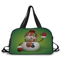 iPrint Travel handbag,Snowman,3D Style Fun Character Greetin