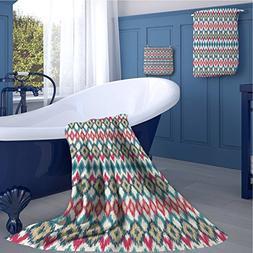 warmfamily Ikat Print bathroom accessories set Ancient Cultu