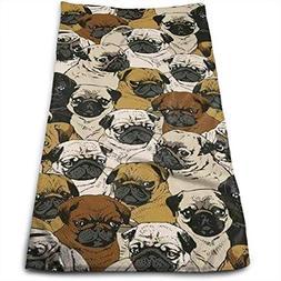 SINOVAL Imagen De Pug, Dog, and Wallpaper Quick-Dry Superior