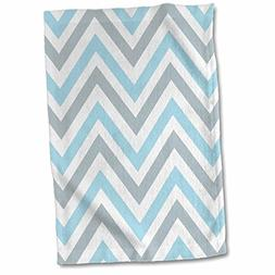 3dRose InspirationzStore Chevron Patterns - Light Blue and G