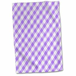 3dRose InspirationzStore Gingham patterns - Purple and white