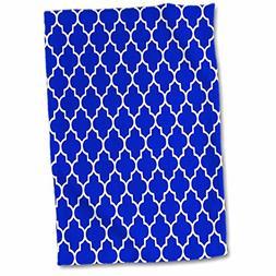 3D Rose Navy Quatrefoil Pattern-Dark Blue Moroccan Tiles-Cla