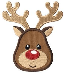 PatchMommy Iron On Patch, Reindeer - Appliques for Kids Chil
