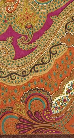 Caspari Jaipur Spice Paper Guest Towels, Set of 2 Packages