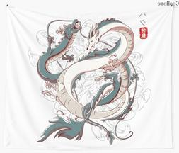 Japanese <font><b>Dragon</b></font> Wall Tapestry Cover Beac