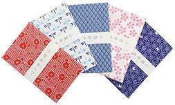 "Japanese Traditional Towel ""Tenugui"" Small Pattern 5 type se"