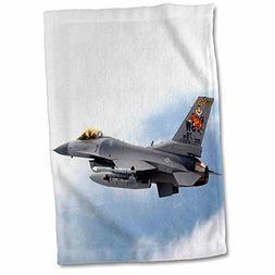 3dRose Jet - F-16 Jet Aircraft - 15x22 Hand Towel