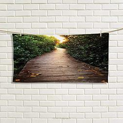 Chaneyhouse Jungle,Hand Towel,Boardwalk in Mangrove Forest S