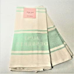 NEW Kate Spade SET OF 2 Just Desserts Mint kitchen towels -