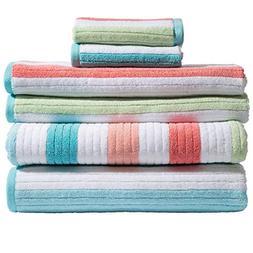 Caro Home Karissa 6 Piece Bath Towel Set - 2 Bath Towels 2 H