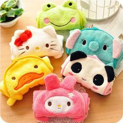Kids Baby Nursery Hand Towel Cartoon Animal Kitchen Bath Han