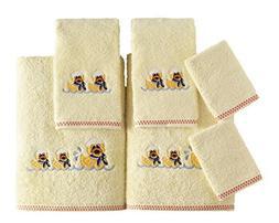 SALBAKOS Bath Towel Set Kids - 6 Piece Set Includes Bath Tow