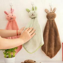 kitchen bathroom hanging towel velvet hand towels