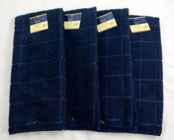 Kitchen Dish Hand Towels Brand New Solid Dark Blue Color. Se