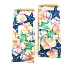 Kitchen Dish Hand Towels Decorative Star Fish Print Blue Gre