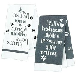 Kitchen Dish Hand Towels House Home paw prints Pattern Dog P