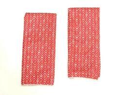 Kitchen Dish Hand Towels Red Diamond Solid Print Set of 2 Ne