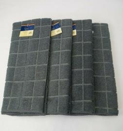 Kitchen Dish Hand Towels Windowpane Brand New Solid Gray Col
