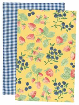 Now Designs Kitchen Dishtowels, Set of Two, Berry Patch and