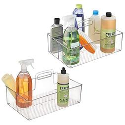 mDesign Plastic Portable Storage Organizer Caddy Tote, Divid