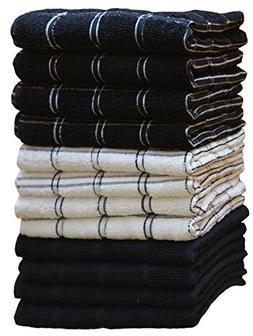 Kitchen Towels  100% Premium Cotton, Machine Washable Extra