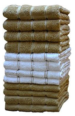 HomeLabels Kitchen Towels  100% Premium Cotton, Machine Wash