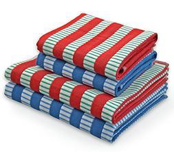 Cleanbear Kitchen Towels Dish Cloths Set, Cotton Hand Towels