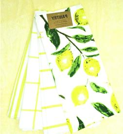 """Kitchen Towels Set of 4 dish hand 18x28"""" Yellow Stripes and"""