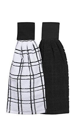 Ritz Kitchen Wears 100% Cotton Hanging Tie Towels, 2 Pack Ch