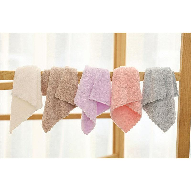 10 Pack Coral Fleece Washcloth Hand Towels, for Kitchen Inch