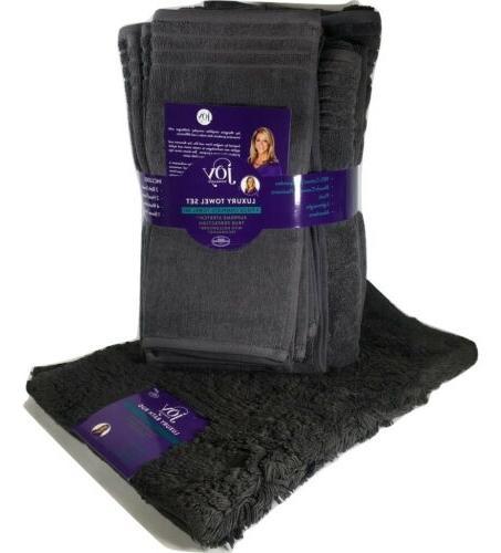 Joy Luxury Stretch Towel Set Gray