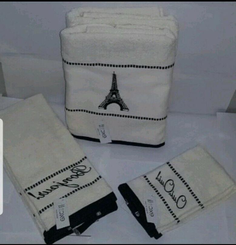 6pc Bath Towels set 2 Hand 2 tip Towels