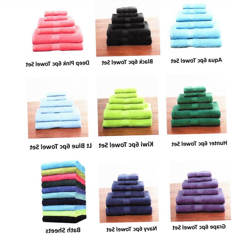 100 percent cotton 6 piece towel set