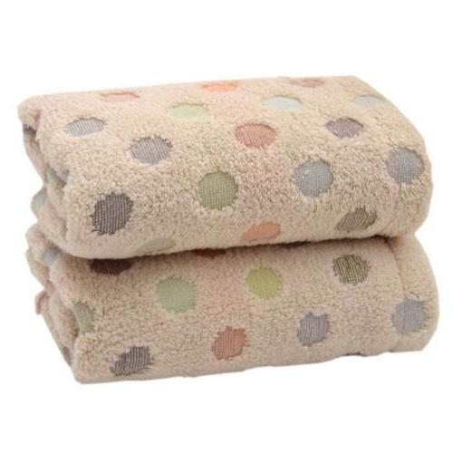 Pidada 100% Cotton Hand Towels Polka Dot Pattern Super Soft