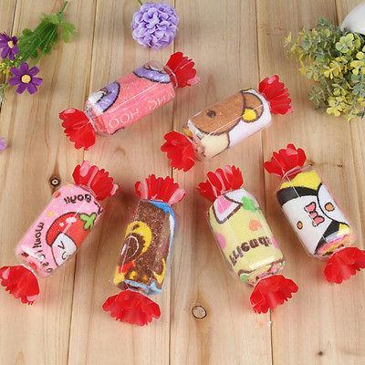 10pcs Cute Candy Washcloth Wedding Baby Shower