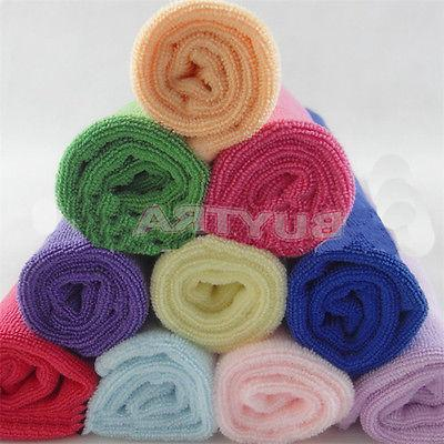 10xMulti-Color Soft Cleaning Wash Cloth