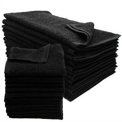 12 new black salon gym spa towels
