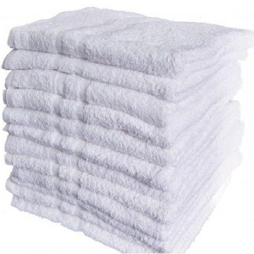 12 new white cotton hotel hand towels