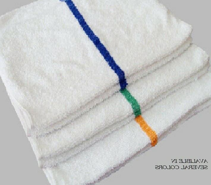24 White Center Bar Towels 16x27 Absorbent 100%COTTON