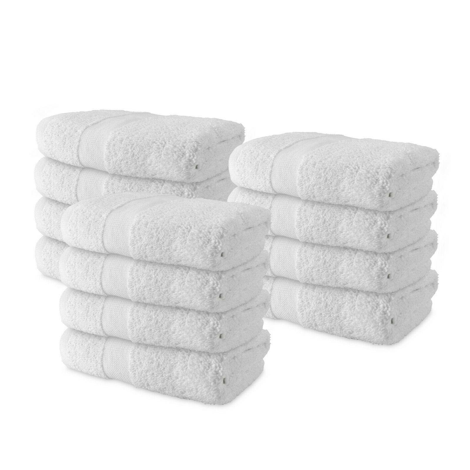 12 Pack of Admiral Hand Towels - White - 16 x 27 - Bulk Bath